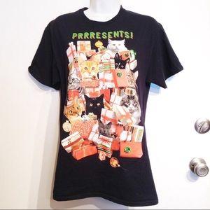 Tacky Christmas Crazy Cat Lady Presents Tee Shirt